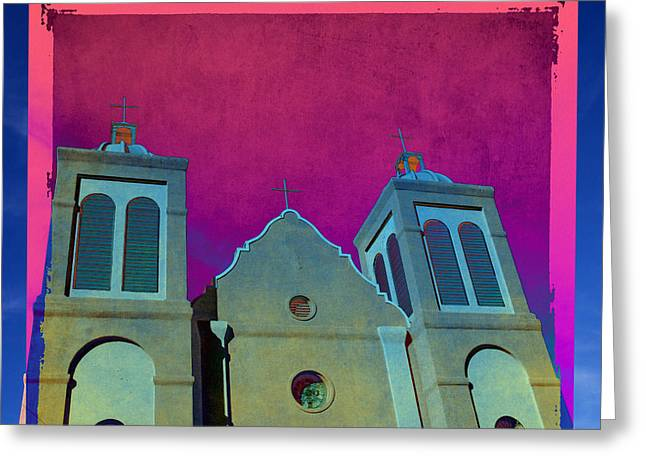 Arty Greeting Cards - Mission New Mexico Var.2 Greeting Card by Susanne Van Hulst