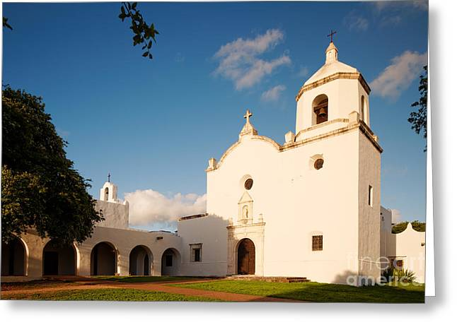 Goliad Texas Greeting Cards - Mission Nuestra Senora del Espiritu Santo de Zuniga at Sunset - Goliad Coastal Bend Texas Greeting Card by Silvio Ligutti