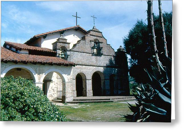 California Mission Greeting Cards - mission San antonio 2 Greeting Card by Gary Brandes