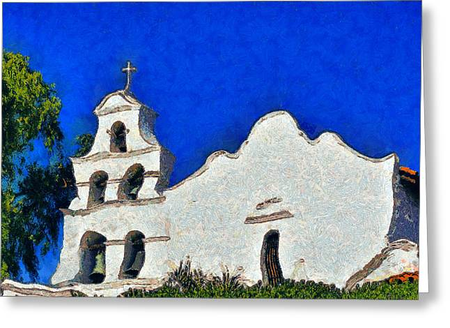 Franciscans Greeting Cards - Mission San Diego de Alcala Greeting Card by Christine Till