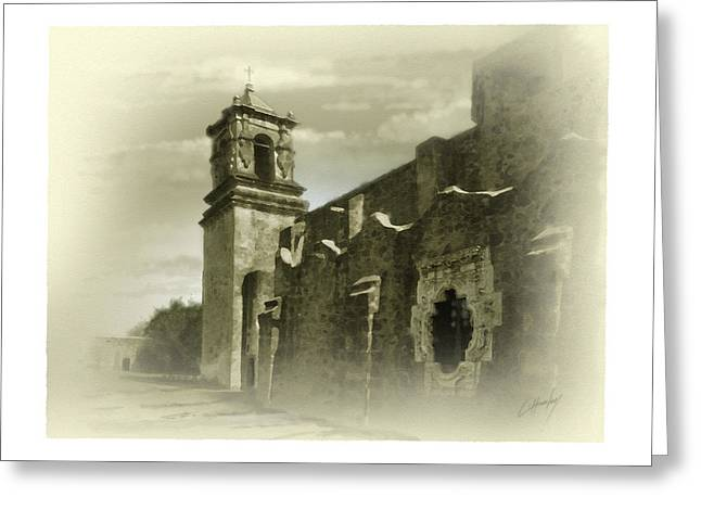 Digital Greeting Cards Greeting Cards - Mission San Jose Bell Tower Greeting Card by Cliff Hawley