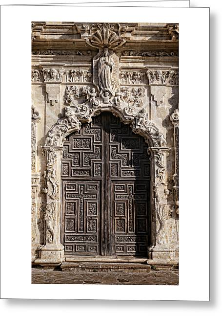 Anne Francis Greeting Cards - Mission San Jose Door - 1 Greeting Card by Stephen Stookey