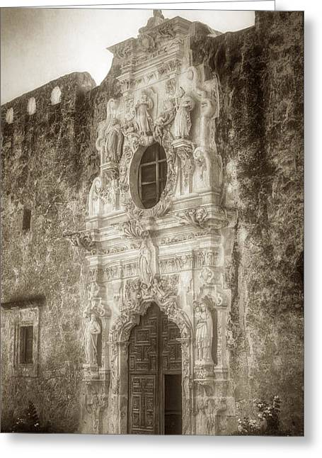 Religion Greeting Cards - Mission San Jose Facade Greeting Card by Joan Carroll