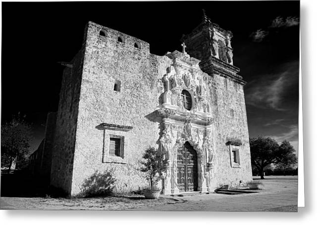 Francis Greeting Cards - Mission San Jose - Infrared Greeting Card by Stephen Stookey