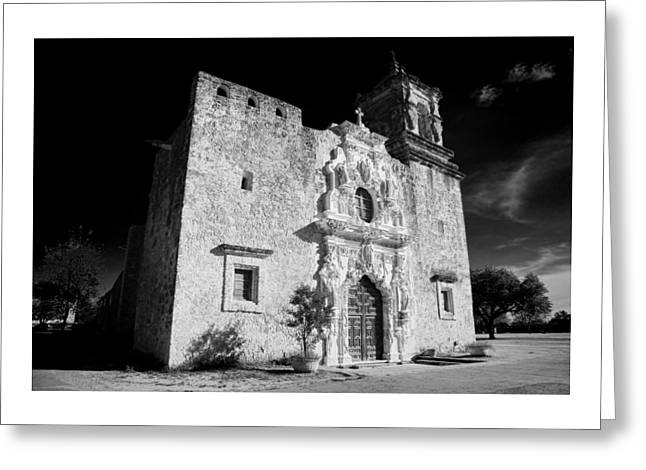 Stone Carving Greeting Cards - Mission San Jose - Infrared Greeting Card by Stephen Stookey