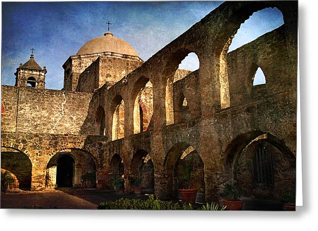 Bastion Greeting Cards - Mission San Jose Greeting Card by Melany Sarafis
