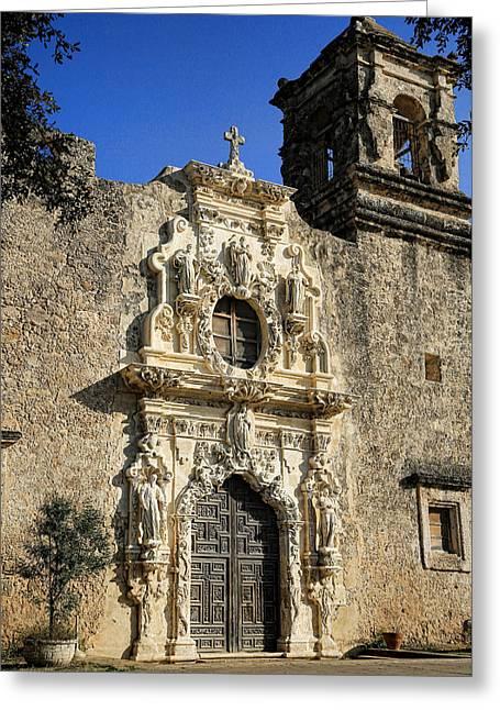 Anne Francis Greeting Cards - Mission San Jose - San Antonio Greeting Card by Stephen Stookey