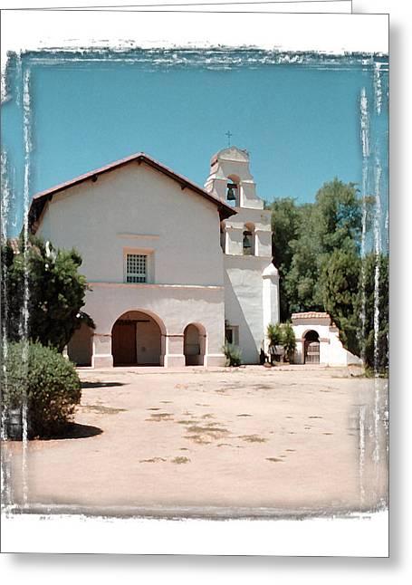 San Juan Bautista Greeting Cards - Mission San Juan Bautista - II Greeting Card by Ken Evans