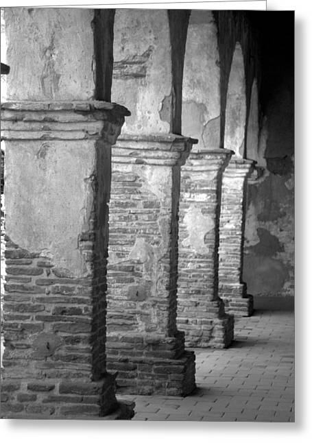 Brad Scott Greeting Cards - Mission San Juan Capistrano Arches Greeting Card by Brad Scott