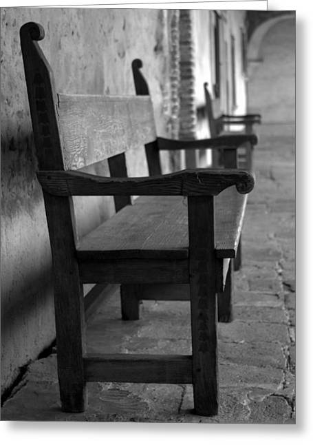 Brad Scott Greeting Cards - Mission San Juan Capistrano Bench Greeting Card by Brad Scott