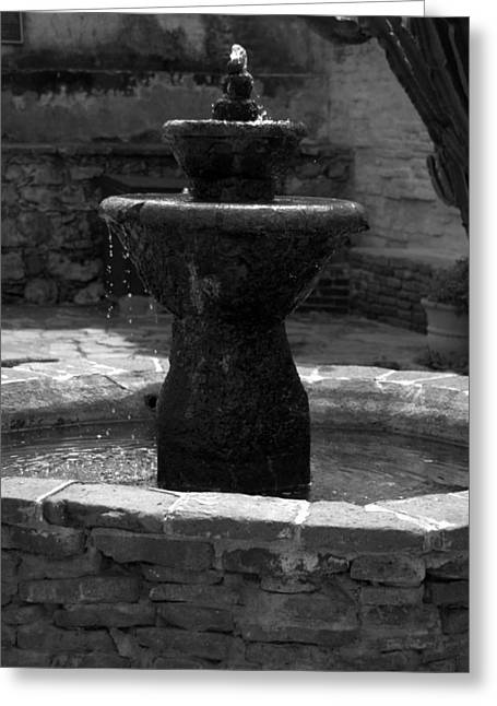 Mission San Juan Capistrano Fountain Greeting Card by Brad Scott