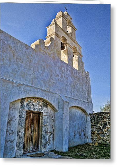 Door Sculpture Greeting Cards - Mission San Juan Capistrano - San Antonio Greeting Card by Stephen Stookey