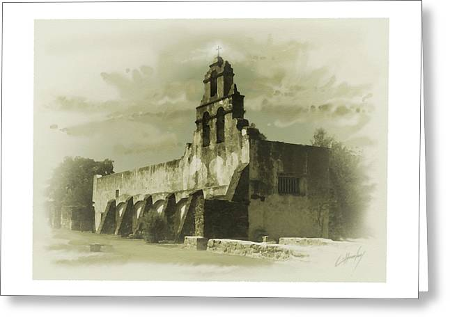Digital Greeting Cards Greeting Cards - Mission San Juan Greeting Card by Cliff Hawley