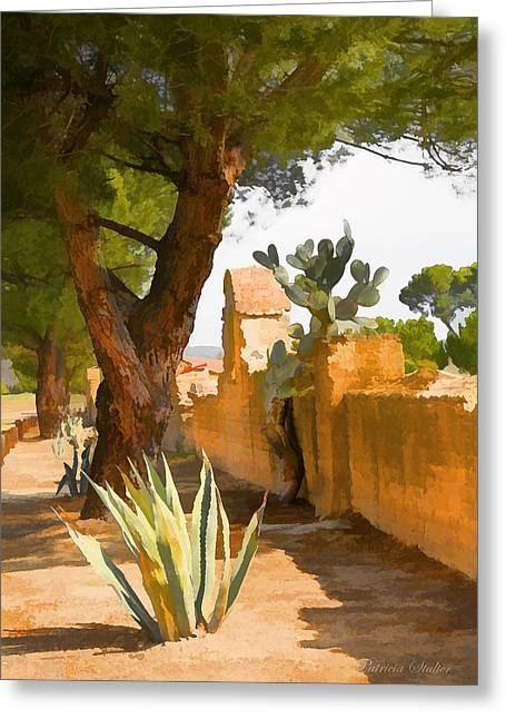Cacti Digital Greeting Cards - Mission San Miguel Wall Greeting Card by Patricia Stalter