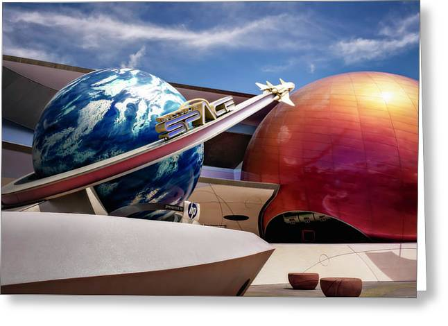 Mission Space Greeting Card by Eduard Moldoveanu
