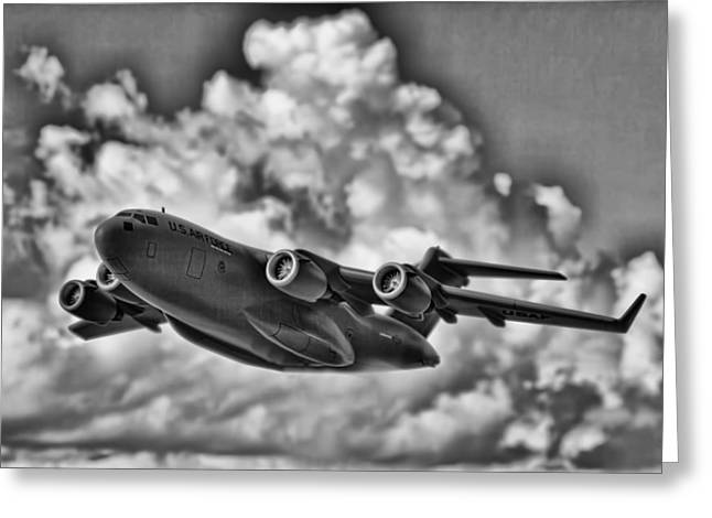 Boeing Greeting Cards - Mission-Strategic Airlift Greeting Card by Douglas Barnard