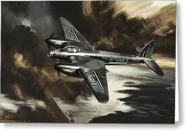 Mission To Danger Greeting Card by Wilf Hardy