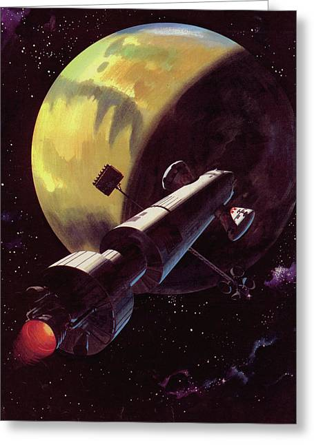 Mission To Mars Greeting Card by Wilf Hardy