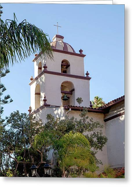 Mission Ventura Bell Tower Greeting Card by Art Block Collections