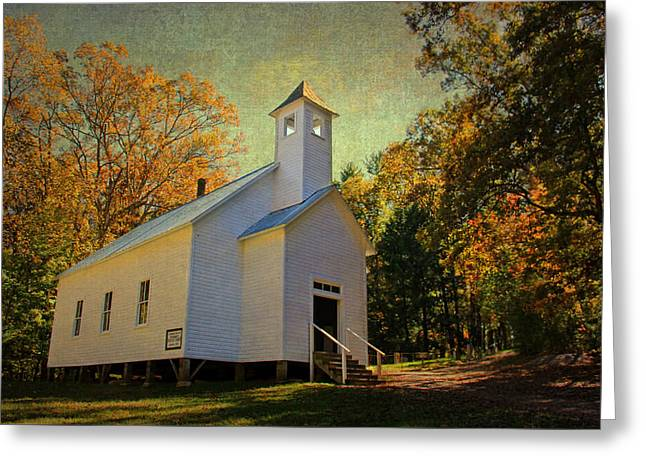 Tennessee Landmark Greeting Cards - Missionary Baptist Church - Cades Cove TN Greeting Card by HH Photography of Florida