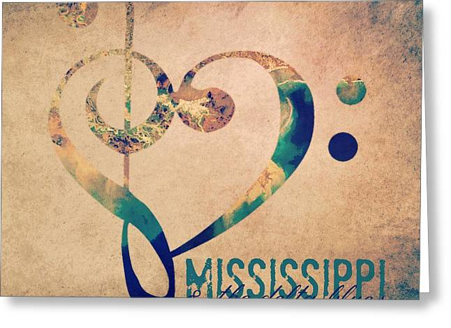 Clef Greeting Cards - Mississippi Blues Greeting Card by Brandi Fitzgerald