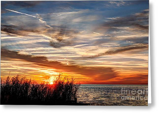 Mississippi Gulf Coast Sunset Greeting Card by Joan McCool