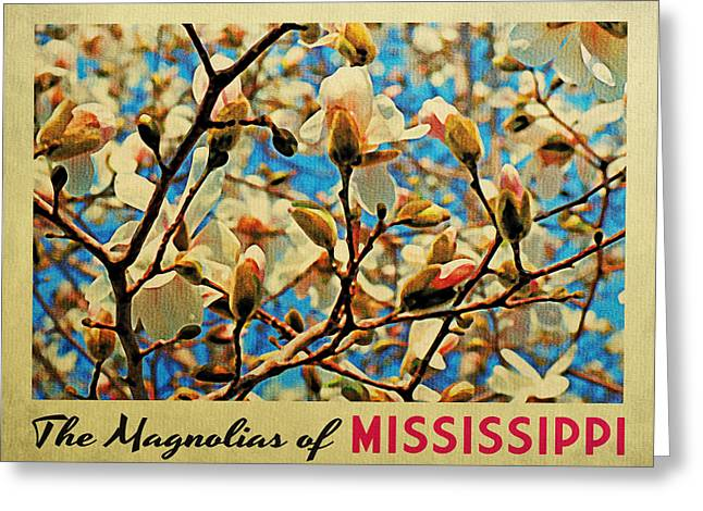 Mississippi Magnolias Greeting Card by Flo Karp