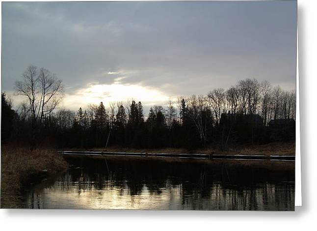 Dawn Pyrography Greeting Cards - Mississippi river Dawn clouds Greeting Card by Kent Lorentzen