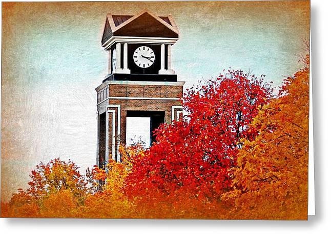 Saint Joseph Greeting Cards - Missouri Western Tower in the Fall Greeting Card by Kim Blaylock
