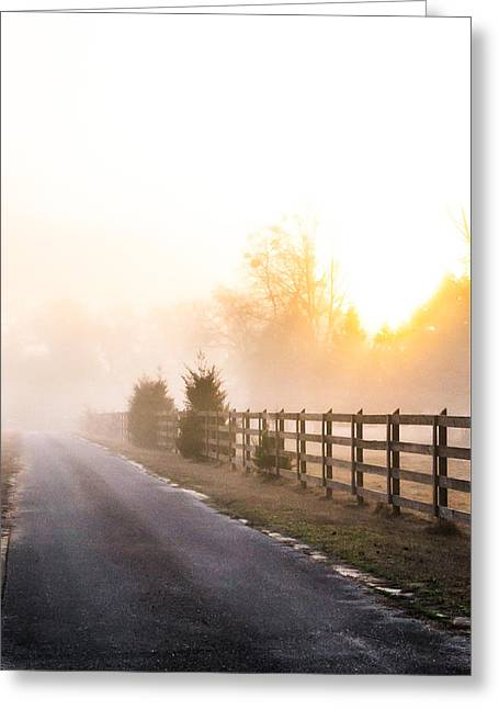 Dazed Greeting Cards - Mist in the Morning Greeting Card by Shelby  Young