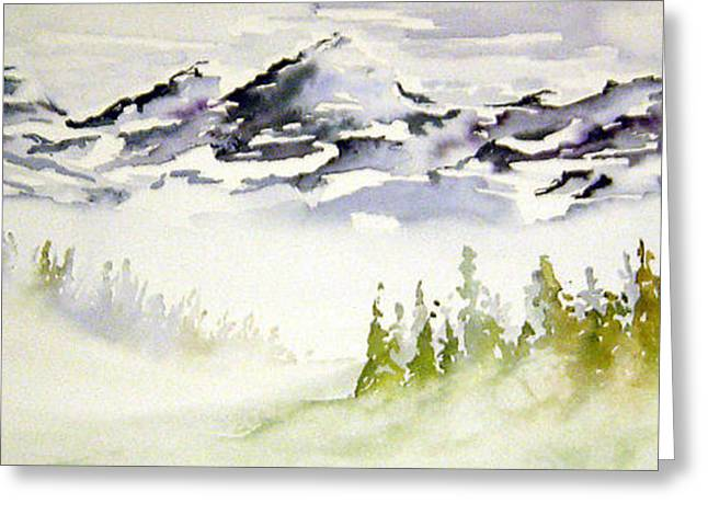 Mist In The Mountains Greeting Card by Joanne Smoley