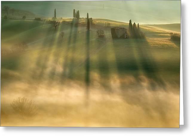 Mist Greeting Card by Krzysztof Browko