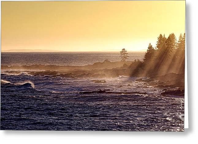 Mist Off The Coast Of Maine Greeting Card by Olivier Le Queinec
