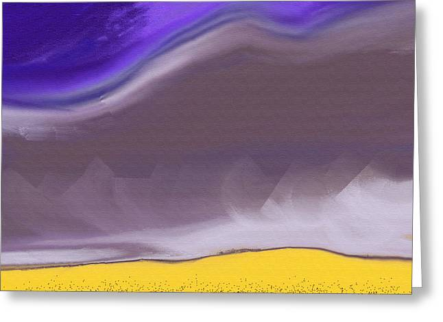 Grey Clouds Greeting Cards - Mist on the Mountains Greeting Card by Lenore Senior