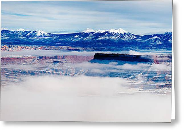 Southern Utah Greeting Cards - Mist Over Canyonlands I Greeting Card by Irene Abdou