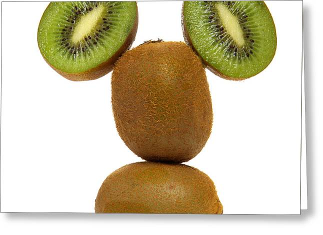 Mister Kiwi Greeting Card by Olivier Le Queinec