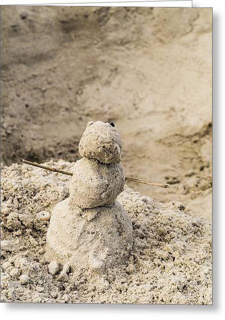 Sandman Snowman Greeting Cards - Mister Sandman Greeting Card by Craig Morrison
