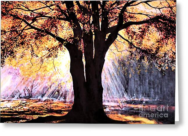 Valerie Anne Kelly Art Greeting Cards - Mists of time Greeting Card by Valerie Anne Kelly