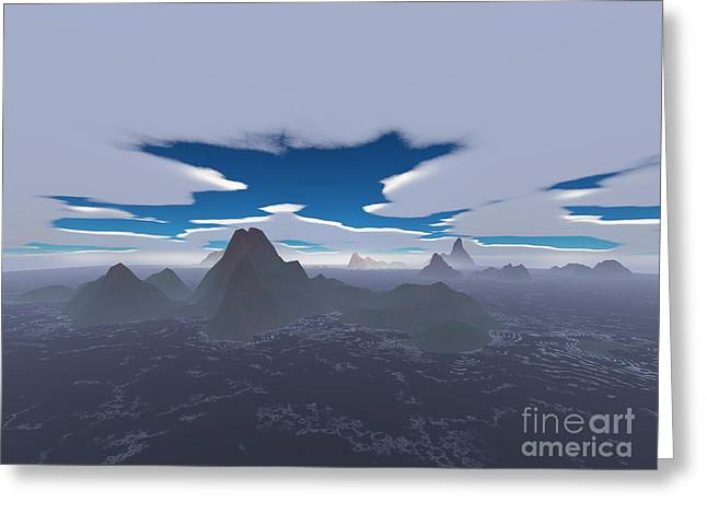 Misty Archipelago Greeting Card by Gaspar Avila
