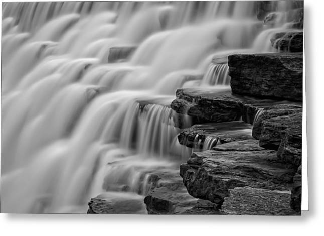 Devils Den Greeting Cards - Misty Cascade Greeting Card by James Barber