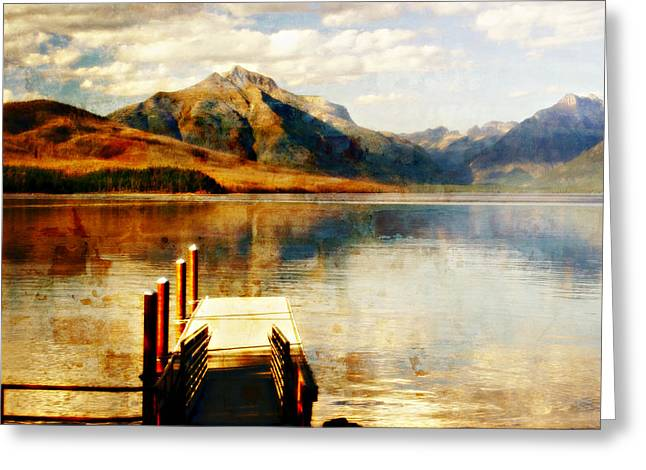 Marty Koch Greeting Cards - Misty Day At The Dock Greeting Card by Marty Koch