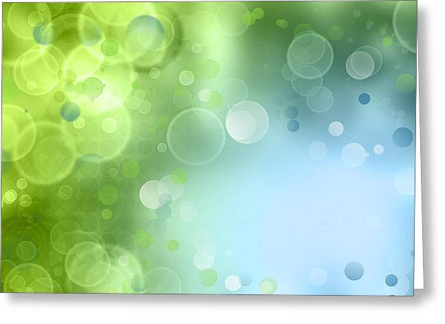 Spring Floors Greeting Cards - Misty field Greeting Card by Les Cunliffe