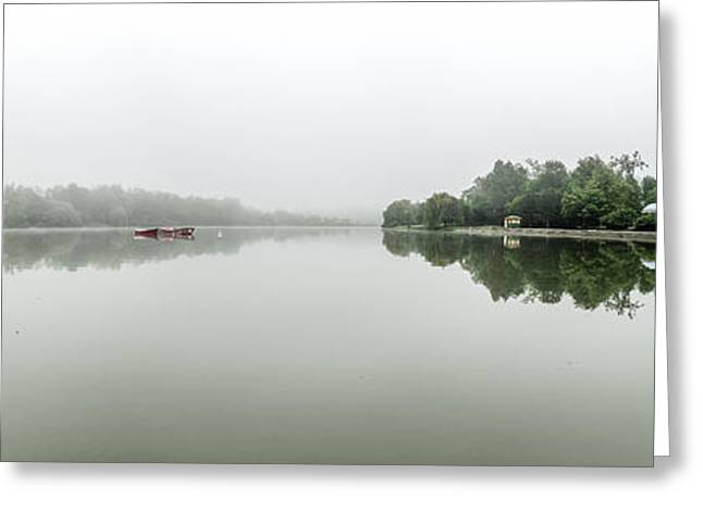 Misty Hoyt Lake Morning Greeting Card by Chris Bordeleau