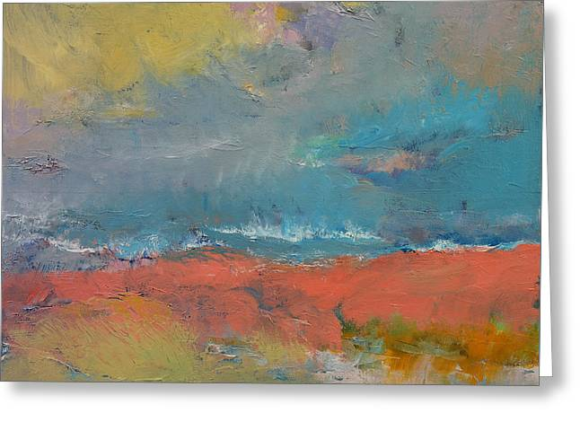 Misty Greeting Card by Michael Creese