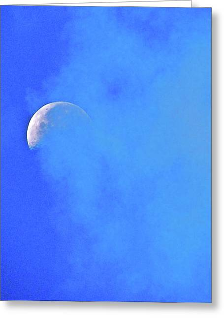 Misty Moon Greeting Card by Liz Vernand