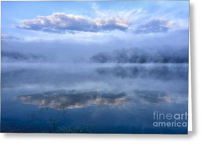 Webster Springs Greeting Cards - Misty Morning at the Lake Greeting Card by Thomas R Fletcher
