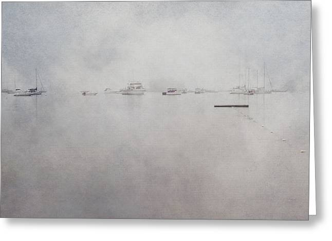 Sailboats In Water Greeting Cards - Misty Morning on the Coast - Acadia National Park - Maine Greeting Card by Joann Vitali