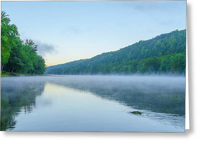 Misty Morning On The Delaware Greeting Card by Bill Cannon