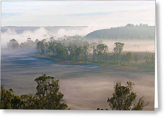 River Mist Greeting Cards - Misty Morning on the Murray Greeting Card by Bill  Robinson