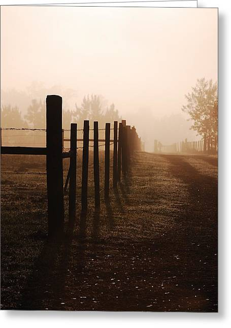 Misty Morning Greeting Card by Robert Meanor